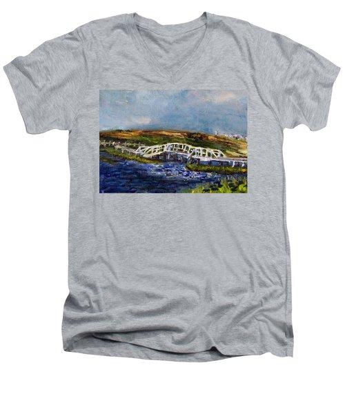 Bridge Over The Marsh Men's V-Neck T-Shirt