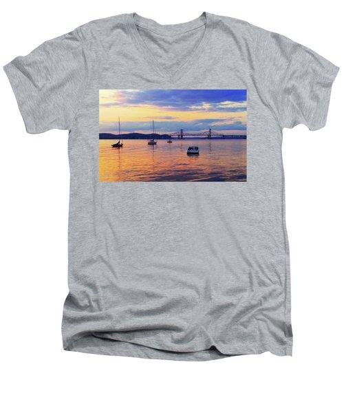 Bridge Sunset Men's V-Neck T-Shirt
