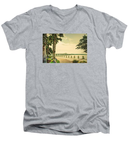 Bridge To Ladys Island Men's V-Neck T-Shirt