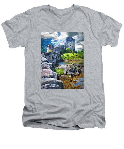 Bridge To The Castle Men's V-Neck T-Shirt