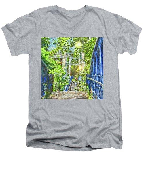 Bridge To Your Dreams Men's V-Neck T-Shirt