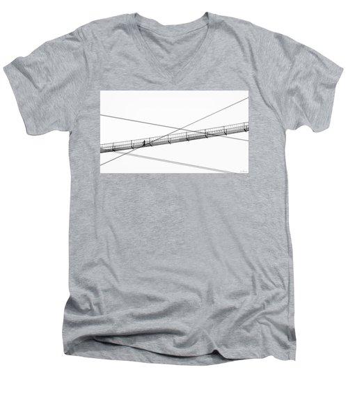 Bridge Walker Men's V-Neck T-Shirt by Joe Bonita