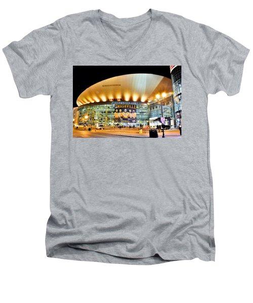 Bridgestone Arena Men's V-Neck T-Shirt