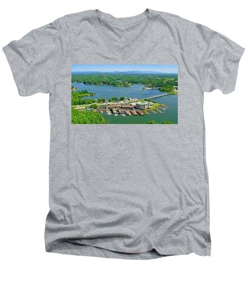Bridgewater Plaza, Smith Mountain Lake, Virginia Men's V-Neck T-Shirt