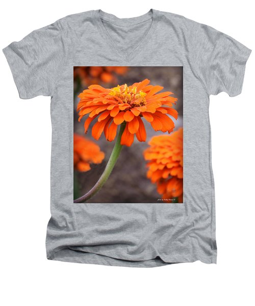 Bright And Beautiful Men's V-Neck T-Shirt by Kathy M Krause