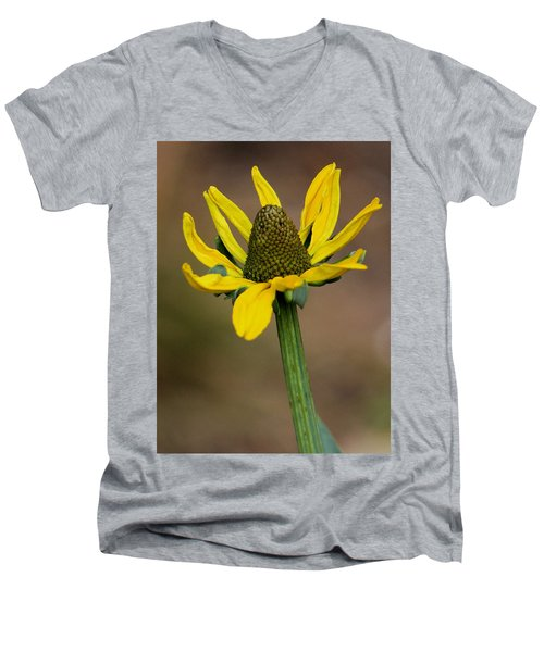 Men's V-Neck T-Shirt featuring the photograph Bright And Shining by Deborah  Crew-Johnson