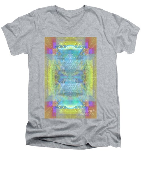 Bright Chalice Ancient Symbol Tapestry Men's V-Neck T-Shirt by Christopher Pringer