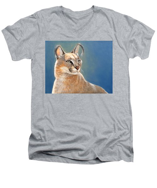 Bright Eyes - Caracal Men's V-Neck T-Shirt
