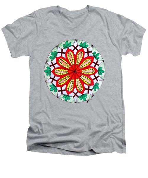 Bright Flower Men's V-Neck T-Shirt