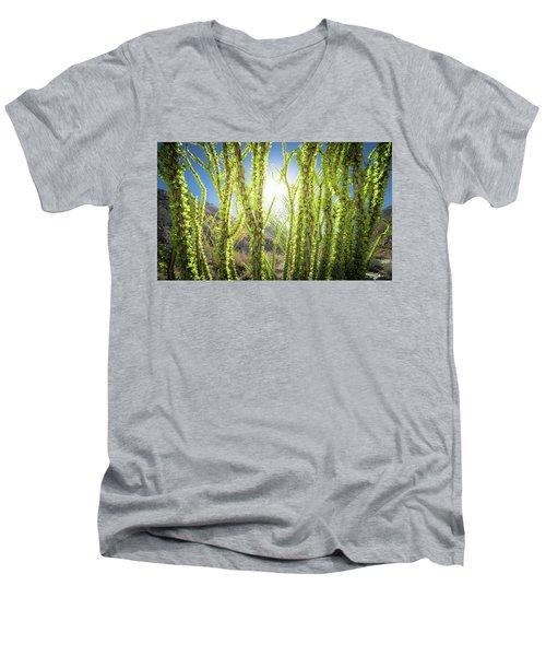 Bright Light In The Desert Men's V-Neck T-Shirt