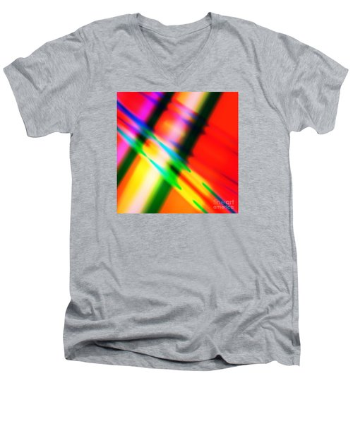 Bright Lines Men's V-Neck T-Shirt
