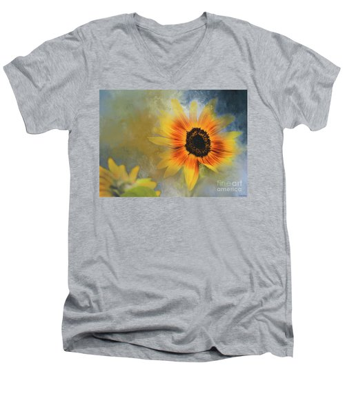 Brighter Than Sunshine Men's V-Neck T-Shirt by Eva Lechner