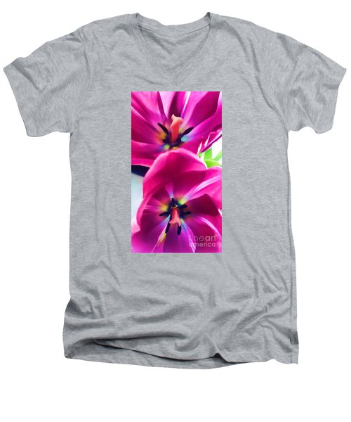 Men's V-Neck T-Shirt featuring the photograph Brilliance by Roberta Byram