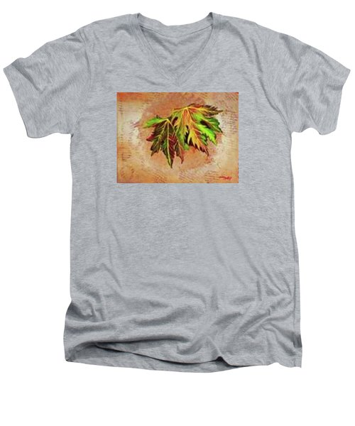 Brilliant Is The Color Of Autumn  Men's V-Neck T-Shirt by Talisa Hartley