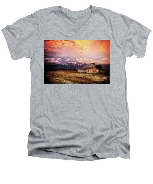 Brilliant Sunrise Men's V-Neck T-Shirt