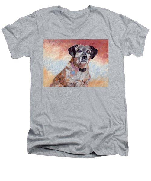 Brindle Men's V-Neck T-Shirt