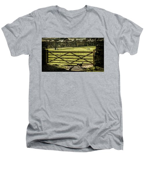 Men's V-Neck T-Shirt featuring the photograph Bringing It Back by Nick Bywater