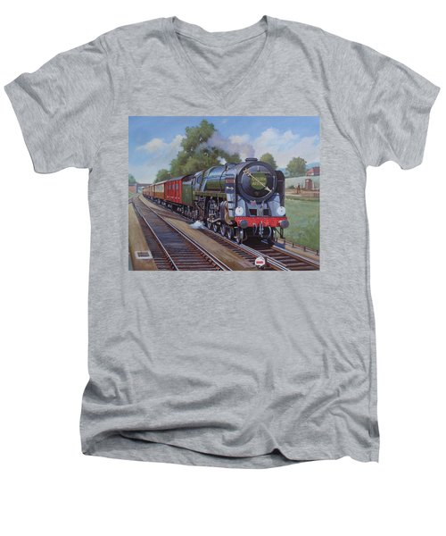 Britannia Pacific On The Golden Arrow. Men's V-Neck T-Shirt by Mike  Jeffries