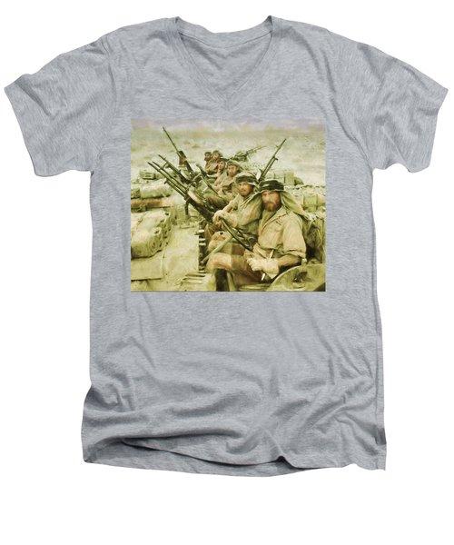 British Sas Men's V-Neck T-Shirt by Michael Cleere
