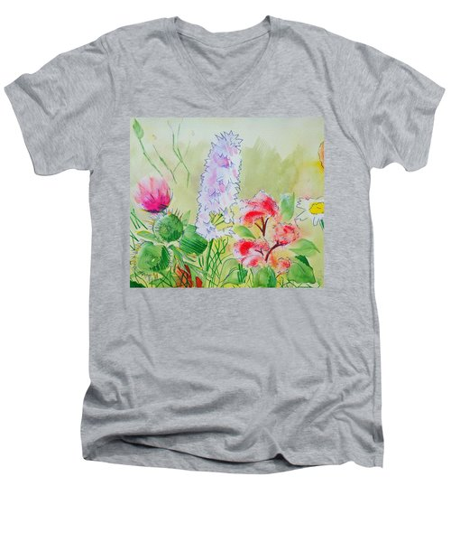 British Wild Flowers Men's V-Neck T-Shirt
