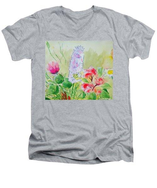 British Wild Flowers Men's V-Neck T-Shirt