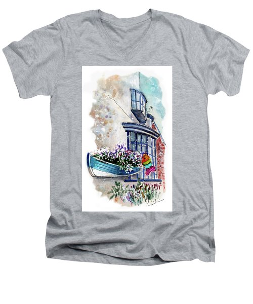 Broadies By The Sea In Staithes Men's V-Neck T-Shirt