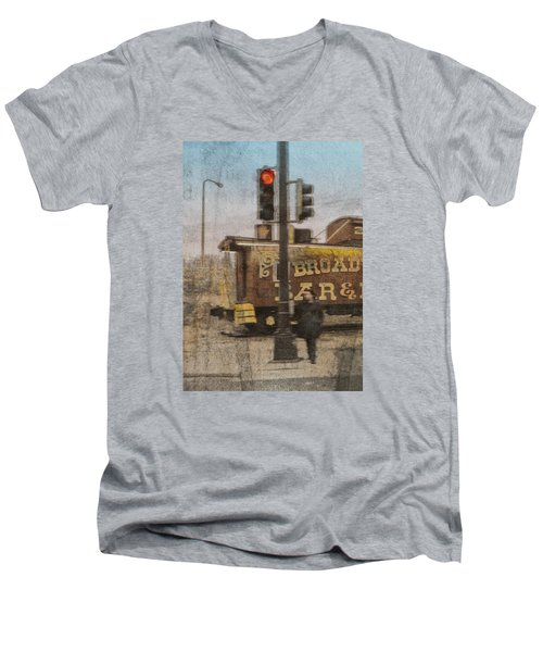 Broadway Bar Men's V-Neck T-Shirt by Susan Stone