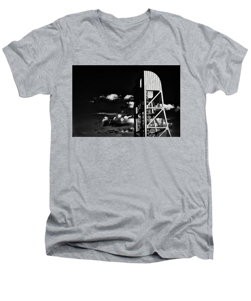 Broadway Bridge Abstract 5 Monochrome Men's V-Neck T-Shirt