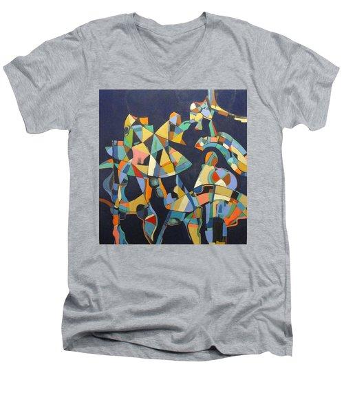 Broken Promises Last Forever Men's V-Neck T-Shirt by Bernard Goodman