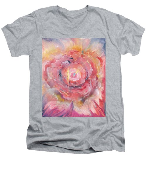 Broken Spirit Rose Men's V-Neck T-Shirt