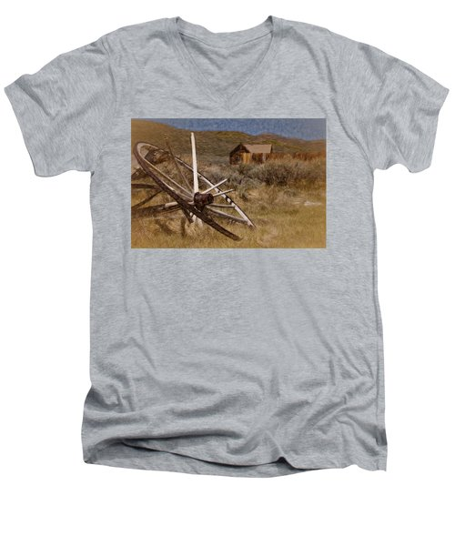 Broken Spokes Men's V-Neck T-Shirt by Lana Trussell