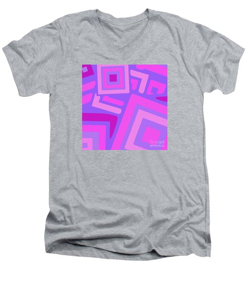 Broken Squares Men's V-Neck T-Shirt
