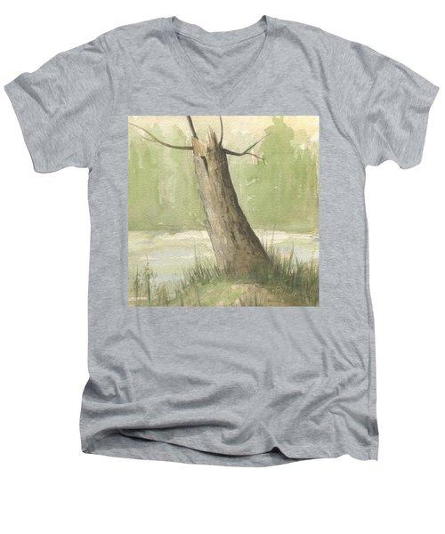 Broken Tree Men's V-Neck T-Shirt