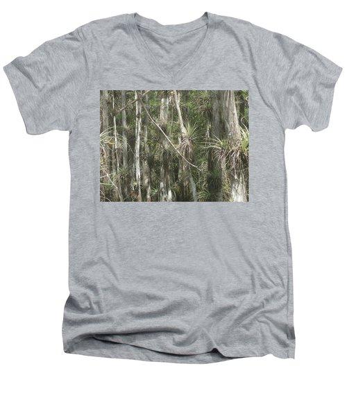 Bromeliads On Trees Men's V-Neck T-Shirt