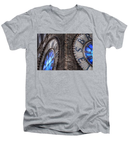 Bromo Seltzer Tower Clock Face #2 Men's V-Neck T-Shirt