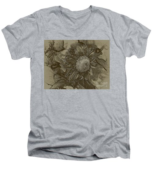 Bronzed Out Sunflower Men's V-Neck T-Shirt