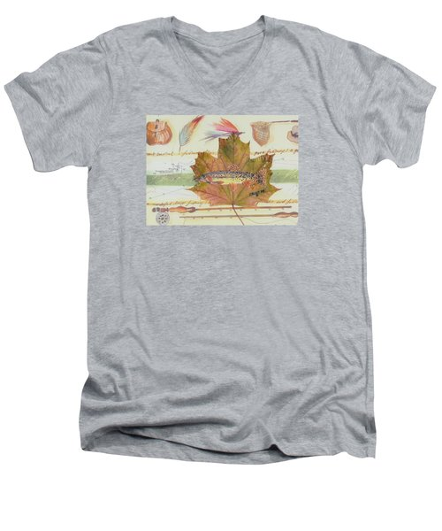 Brook Trout On Fly #2 Men's V-Neck T-Shirt by Ralph Root
