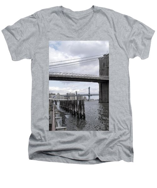 Brooklyn Bridge II Men's V-Neck T-Shirt