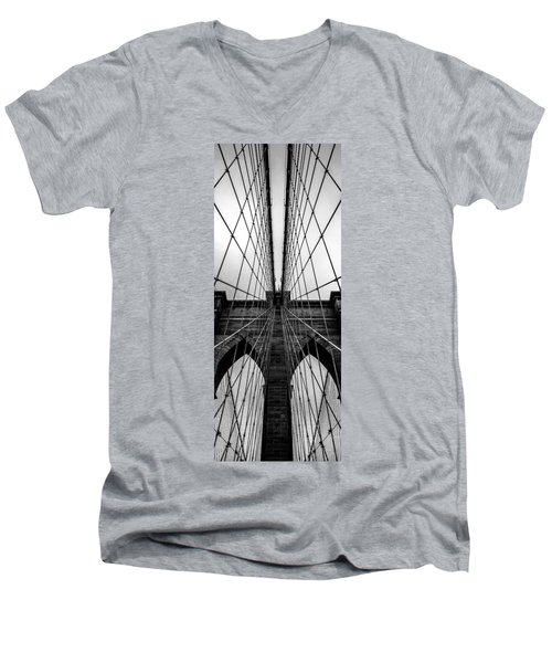 Brooklyn's Web Men's V-Neck T-Shirt
