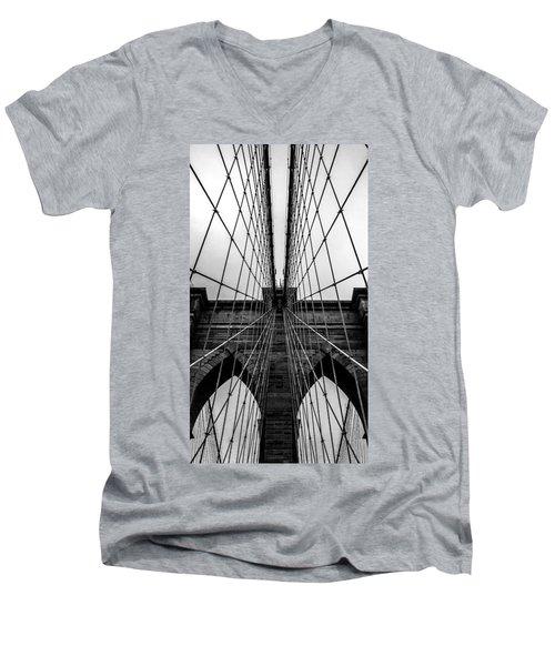 Brooklyn's Web Men's V-Neck T-Shirt