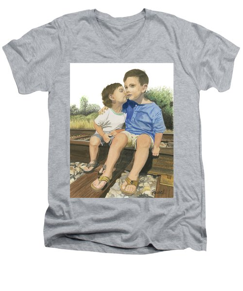 Brotherly Love Men's V-Neck T-Shirt