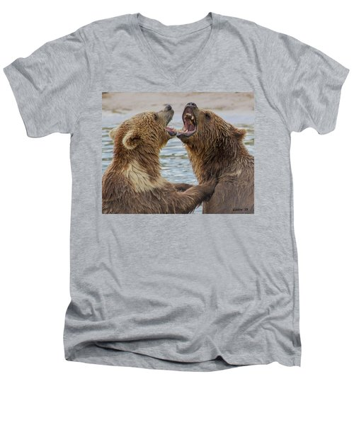 Brown Bears4 Men's V-Neck T-Shirt