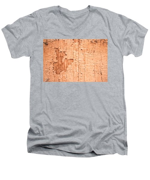 Men's V-Neck T-Shirt featuring the photograph Brown Paint Texture by John Williams