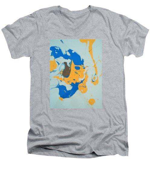 Brownie Baby Bird Men's V-Neck T-Shirt by Gyula Julian Lovas