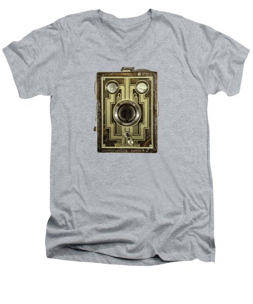 Brownie Six-20 Front Men's V-Neck T-Shirt by YoPedro