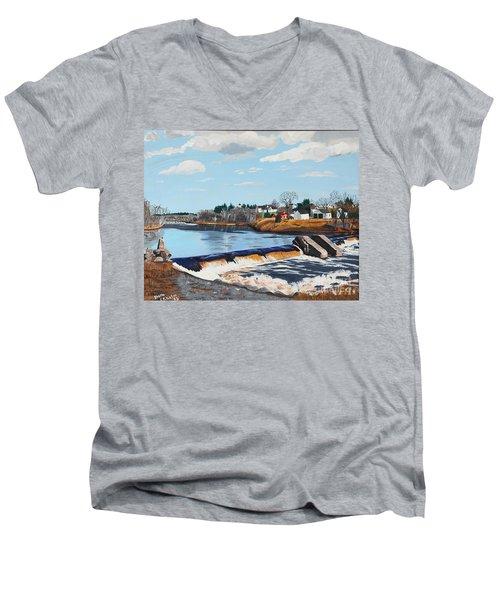 Brownville Village Dam Men's V-Neck T-Shirt