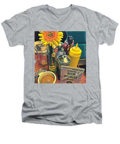 Brunch At Counter Cafe Men's V-Neck T-Shirt