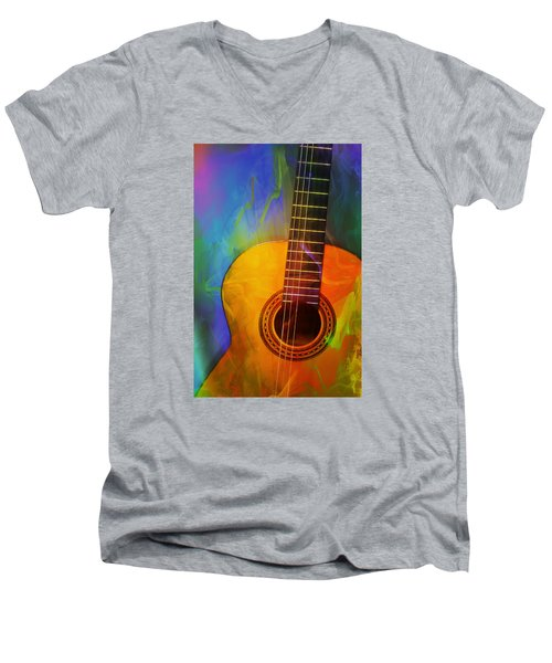Brushwork Men's V-Neck T-Shirt
