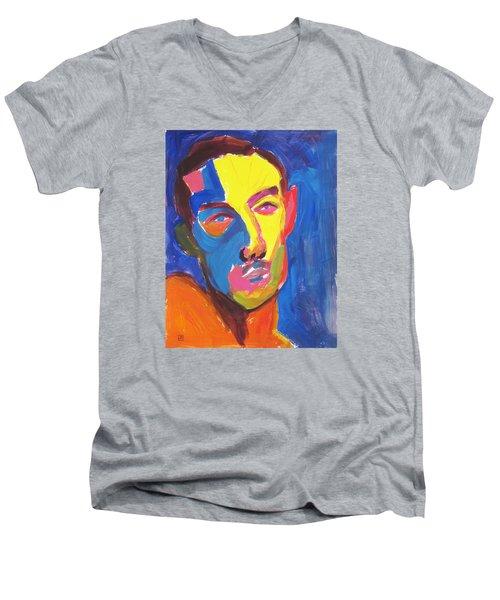 Bryan Portrait Men's V-Neck T-Shirt