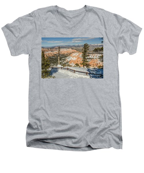 Bryce Amphitheater From Bryce Point Men's V-Neck T-Shirt